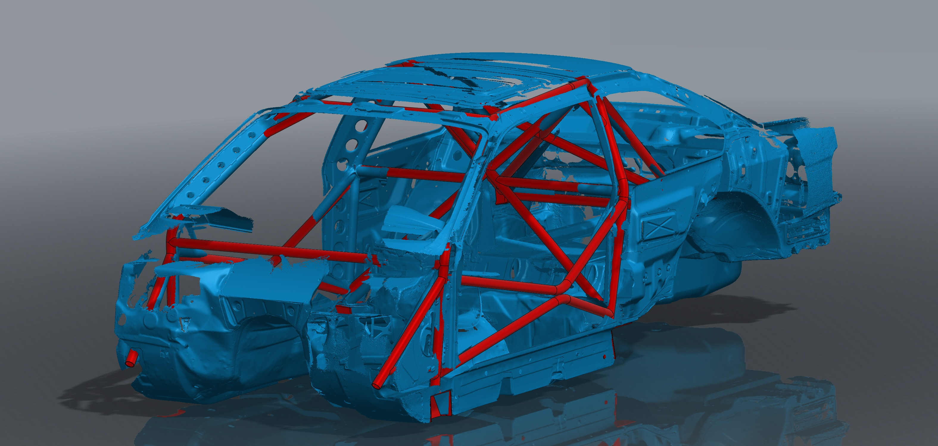 E36 Coupe Roll Cage Front