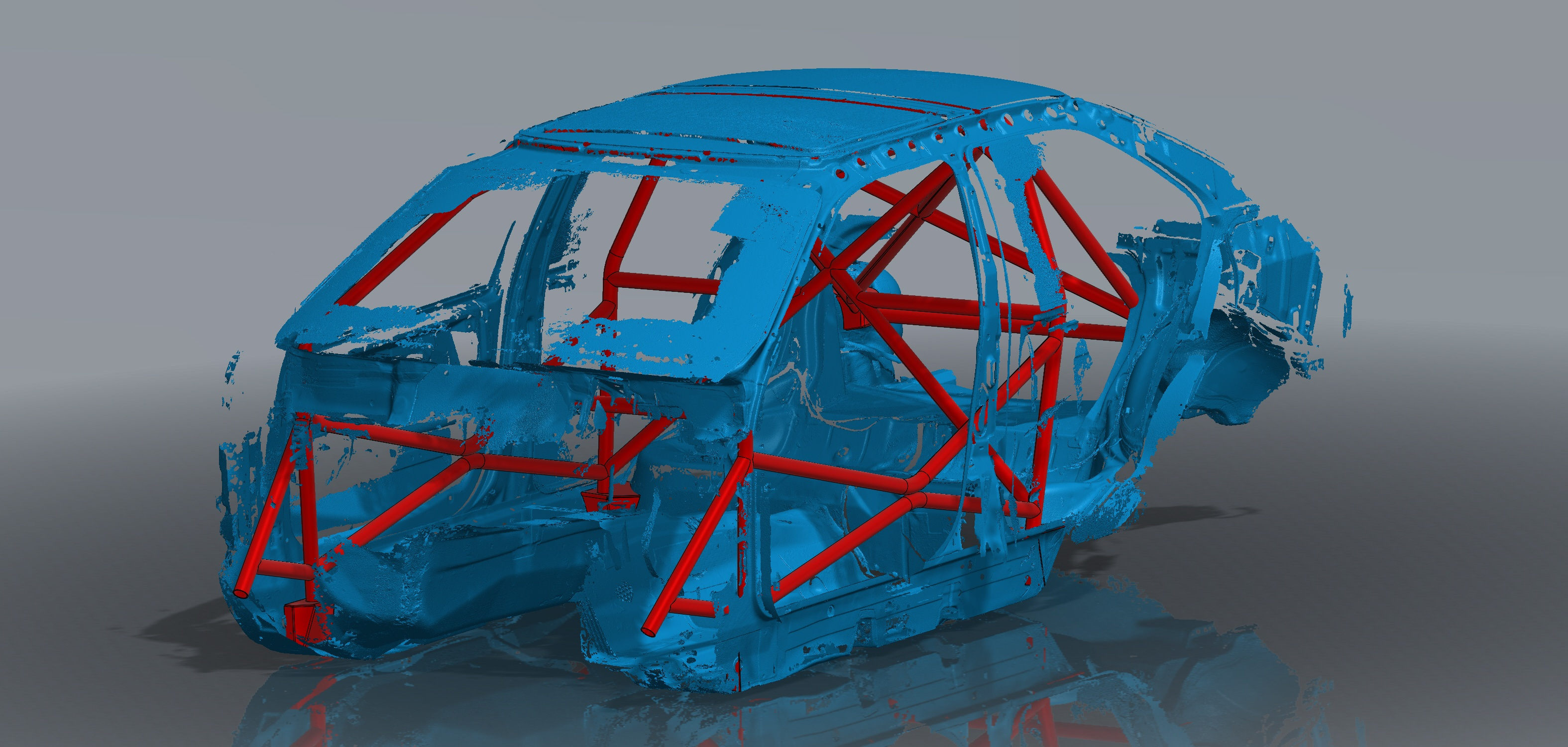 E36 Sedan Roll Cage Assembly Front