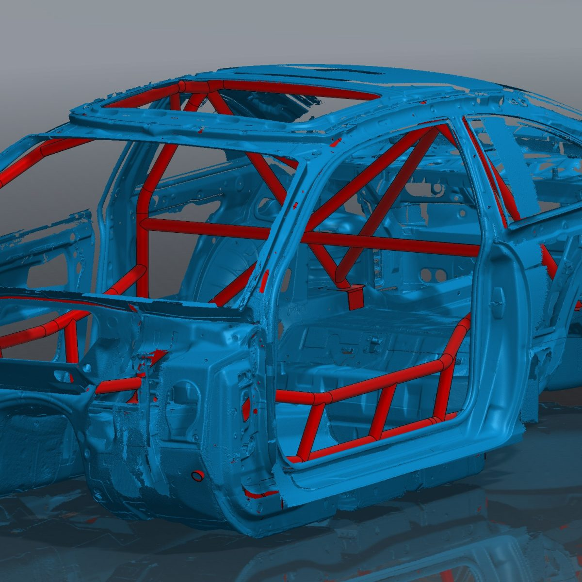 E46 Coupe Roll Cage Assembly Front